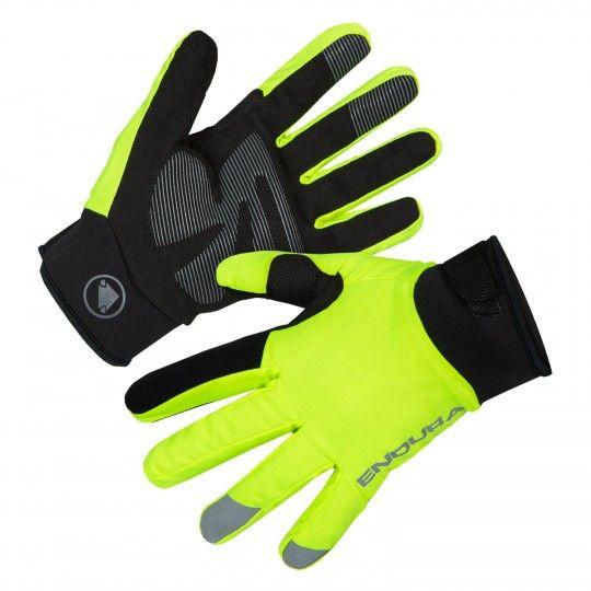 Endura STRIKE long finger cycling gloves Hi-Viz yellow (E0157YV)