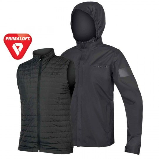 Endura URBAN 3in1 Regenjacke anthrazit 1