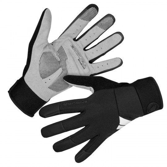 Endura WINDCHILL long finger cycling gloves (windproof) black (E1186BK)
