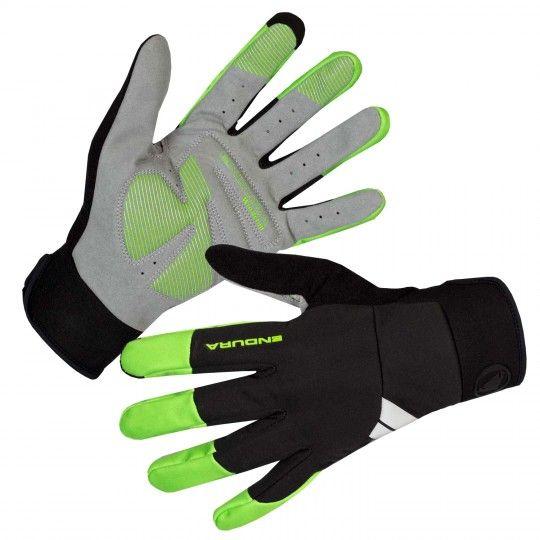 Endura WINDCHILL Fahrradhandschuhe langfinger schwarz/grün 1