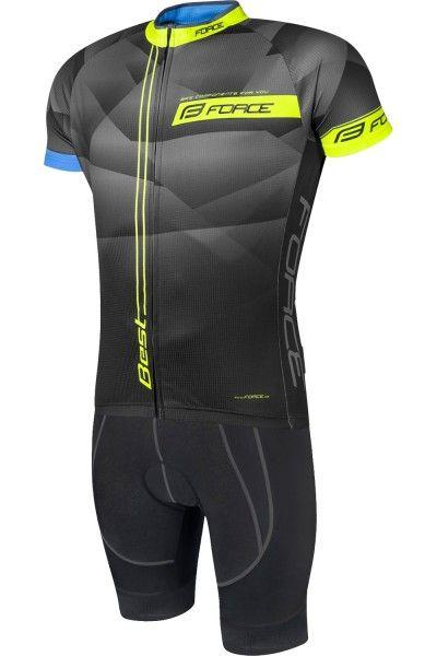 Force Best Radsport-Set schwarz/neongelb 1