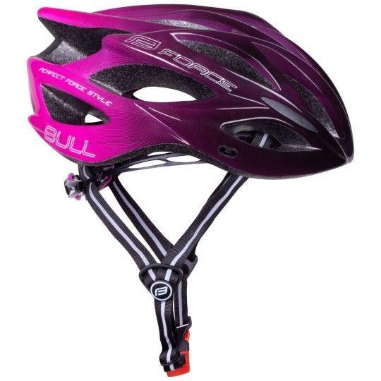 Force BULL HUE Fahrradhelm schwarz/pink 1