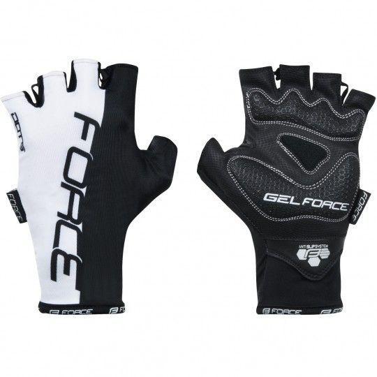 Force DOTS Fahrradhandschuhe kurzfinger schwarz/weiß (905246) Größe L (9)