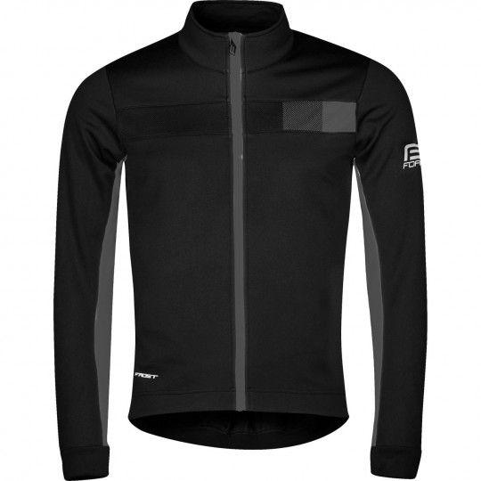 Force FROST Softshell Fahrradjacke schwarz/grau 1