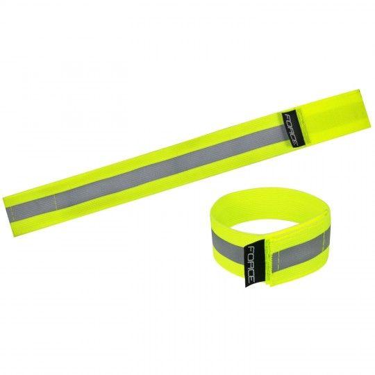 Force Reflexband (1 Paar) neongelb (46400) Universalgröße