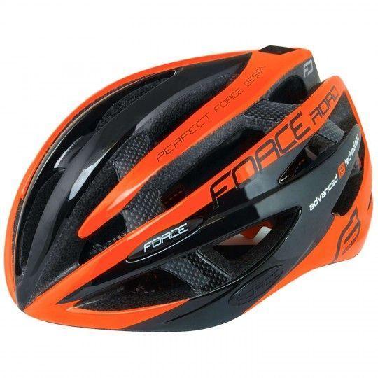 Force ROAD Fahrradhelm neon orange 1