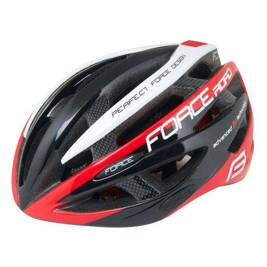 Force ROAD Fahrradhelm schwarz/rot/weiß 1