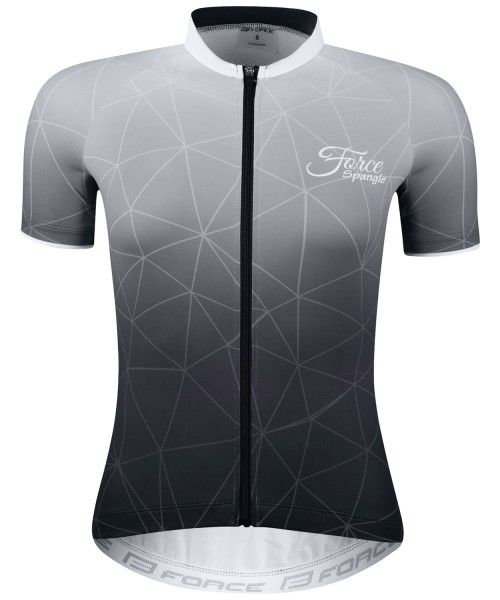 Force SPANGLE Radtrikot Damen kurzarm schwarz/weiß 1