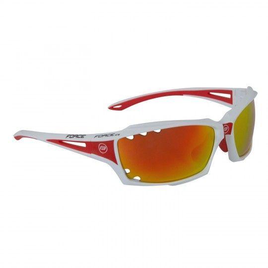 Force VISION Rad-/ Sportbrille weiß/rot