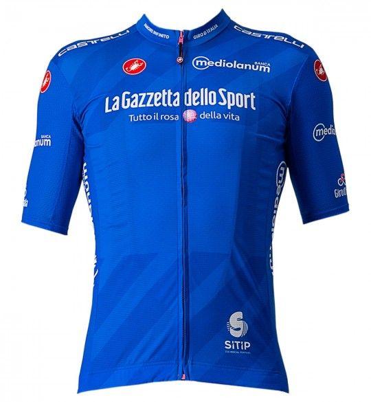 Giro d'Italia 2021 MAGLIA AZZURRO (Blau) Radtrikot kurzarm 1