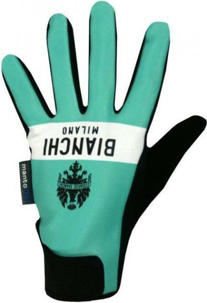 Bianchi Milano KILLER cycling winter gloves celeste