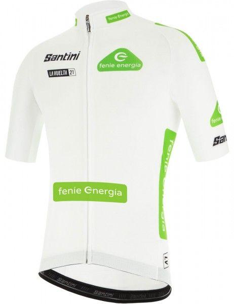 La Vuelta 2021 MAGLIA BLANCO (white) short sleeve cycling jersey - Santini