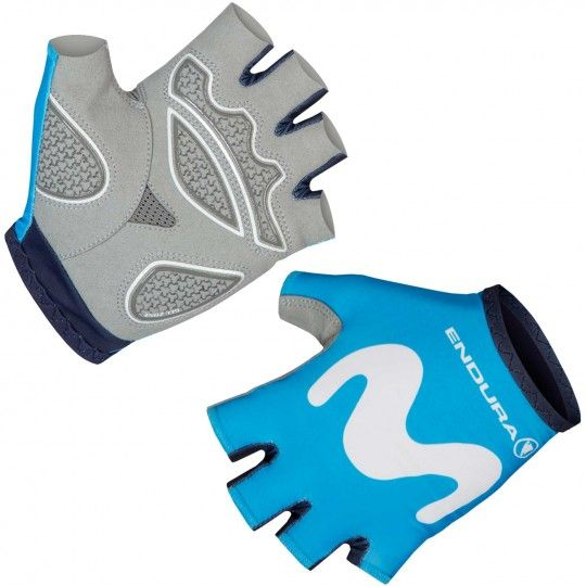 MOVISTAR 2018 short finger cycling gloves - Endura professional cycling team