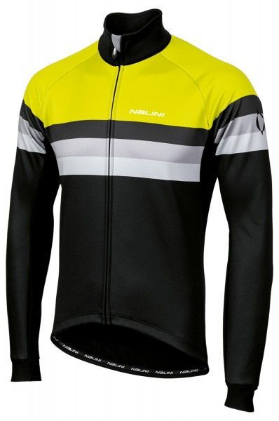 Nalini Crit Warm Jacket 2.0 winter cycling jacket black/yellow fluo (I19-4050)