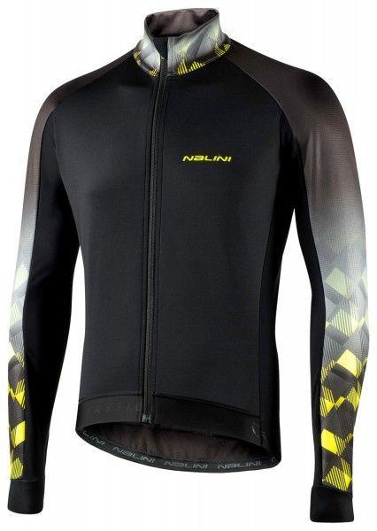 Nalini Criterium Jkt Fahrrad Winterjacke schwarz/neongelb 1