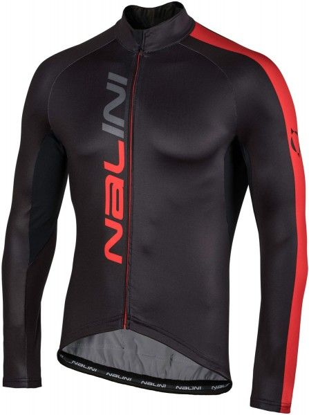 Nalini PRO Nalini LW Jersey long sleeve cycling jersey black/red (I18-4100)