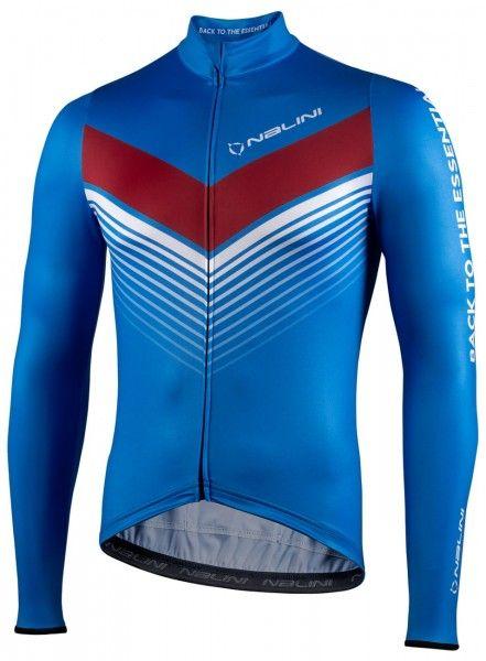Nalini LS Fit Jersey Fahrrad Langarmtrikot blau 1