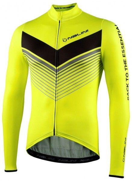 Nalini LS Fit Jersey Fahrrad Langarmtrikot neongelb 1