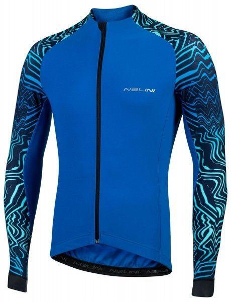 Nalini Pro Gara Jersey Fahrrad Langarmtrikot blau 1