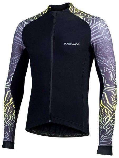 Nalini Pro Gara Jersey Fahrrad Langarmtrikot schwarz 1