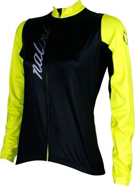 Nalini PRO LW Lady Jersey B Damen Langarmtrikot schwarz/gelb 1