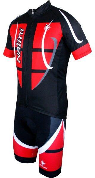 Nalini Radsport-Set (STEEL JERSEY + CARBON) schwarz/rot