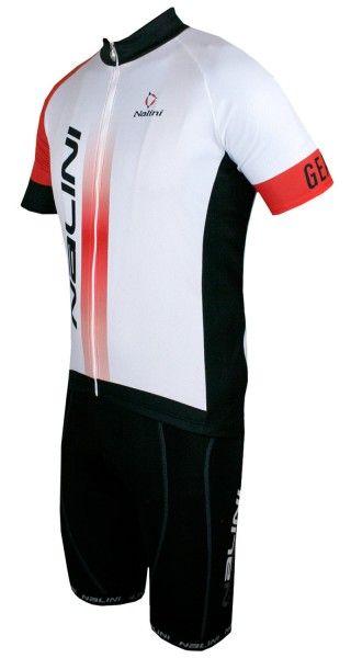 Nalini Radsport-Set (STRIKE + DAKUNA) weiß/schwarz
