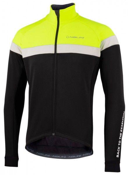 Nalini Road Jkt Fahrrad Winterjacke schwarz/neongelb 1