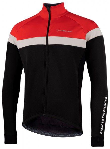 Nalini Road Jkt Fahrrad Winterjacke schwarz/rot 1