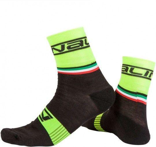Nalini PRO Salita Socks (H15) Radsport-Socken schwarz/neongelb (I16-4050) XXL (46-47 / 12-12.5)