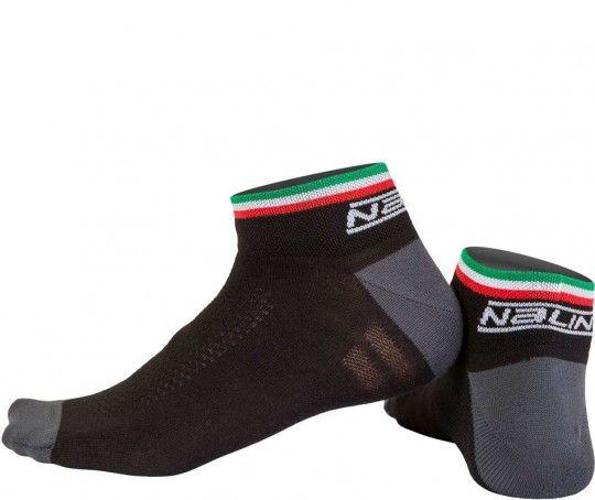 Nalini PRO Strada Socks (H6) Radsport-Socken schwarz (I16-4000) L-XL (42-45 / 8-11.5)