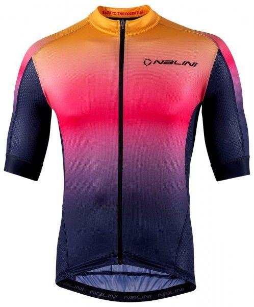Nalini Speed Jersey Fahrrad Kurzarmtrikot blau/orange 1