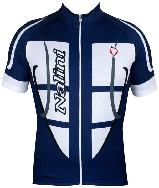 Nalini STEEL JERSEY Fahrrad-Kurzarmtrikot blau/weiß 1