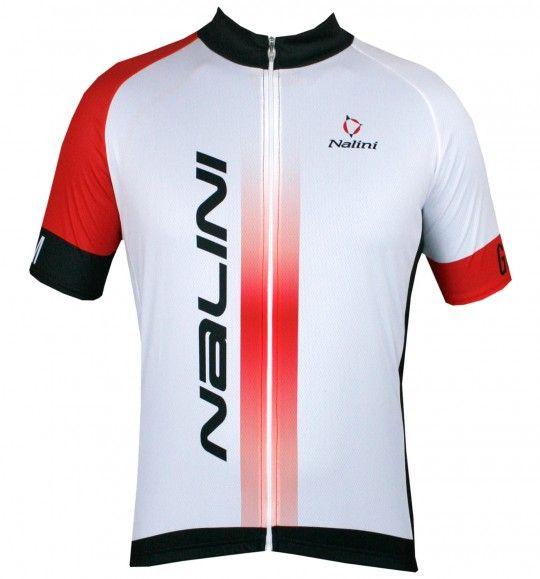 Übergröße Nalini STRIKE Fahrrad-Kurzarmtrikot weiß/rot 1