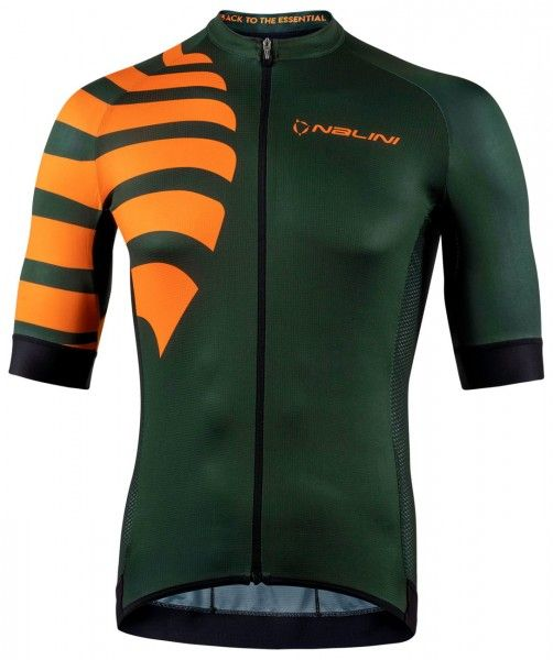 Nalini Stripes Jersey Fahrrad Kurzarmtrikot armeegrün 1