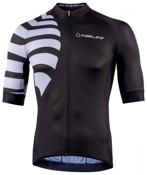 Nalini Stripes Jersey Fahrrad Kurzarmtrikot schwarz 1