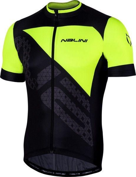 Maillot ciclista manga corta VITTORIA JERSEY (negro/amarillo, E19-4050) - Nalini
