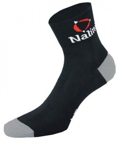 Nalini Pro Vuelta Radsocken schwarz hellgrau 1