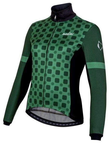 Nalini WS Lady Jkt 2.0 Fahrrad Damen Winterjacke grün/schwarz 1