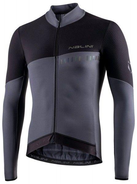 Nalini XWarm Jersey Fahrrad Langarmtrikot schwarz/grau 1