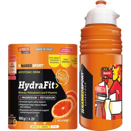 NAMEDSPORT HydraFit Getränkepulver 400g + La Vuelta Trinkflasche