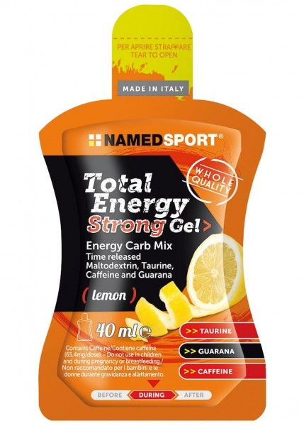 NAMEDSPORT Total Energy Strong Gel 40ml Lemon