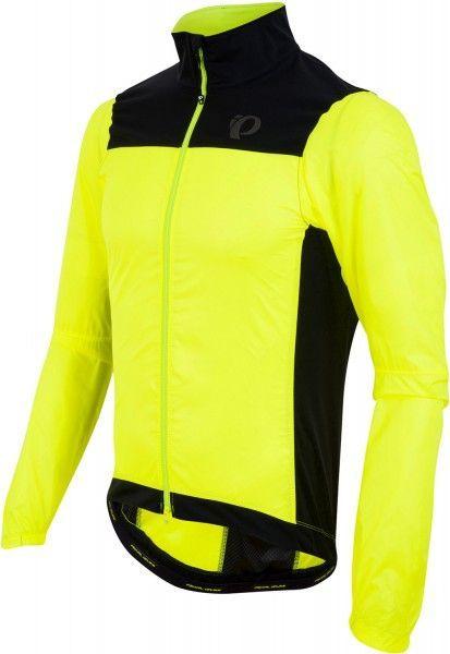 Chaqueta de ciclismo cortavientos P.R.O. Barrier Lite (amarillo néon y negro) - Pearl Izumi