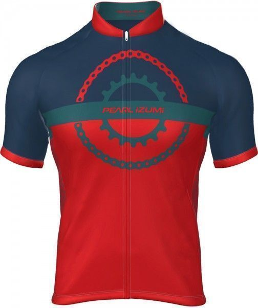 Pearl Izumi SELECT ESCAPE LTD Radtrikot kurzarm rot/blau (chain ring torch red/teal/navy) Größe XL (5)