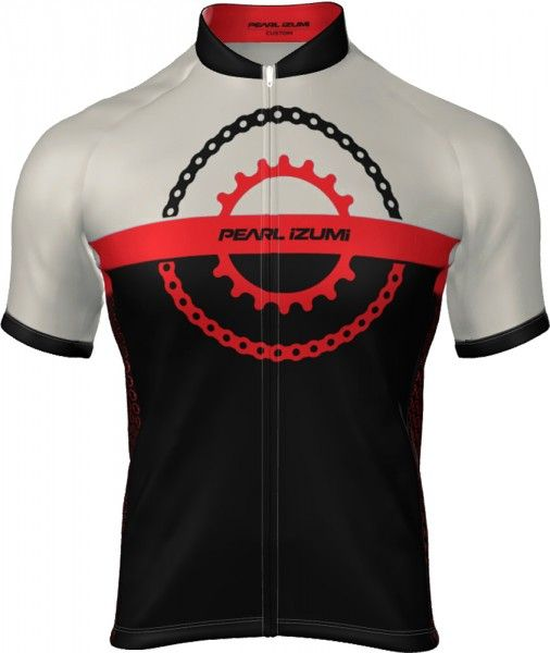 Pearl Izumi SELECT ESCAPE LTD Radtrikot kurzarm schwarz/rot (chain ring black/torch red) Größe S (2)