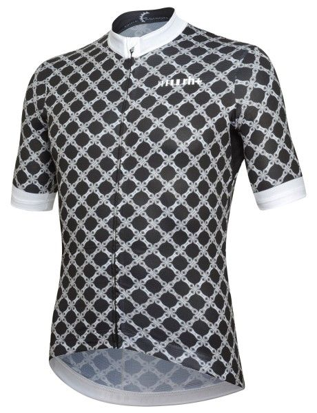 RH+ Chain Fashion Lab Radtrikot kurzarm schwarz/weiß 1