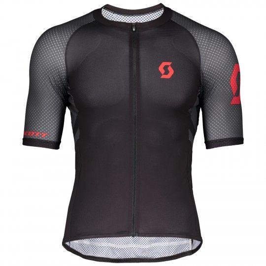 Scott RC Premium CLIMBER Radtrikot kurzarm schwarz rot 1