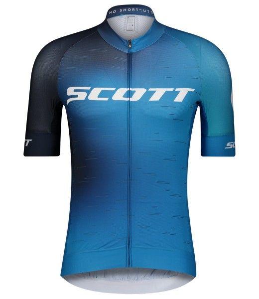 Scott RC PRO Radtrikot kurzarm blau/weiß 1