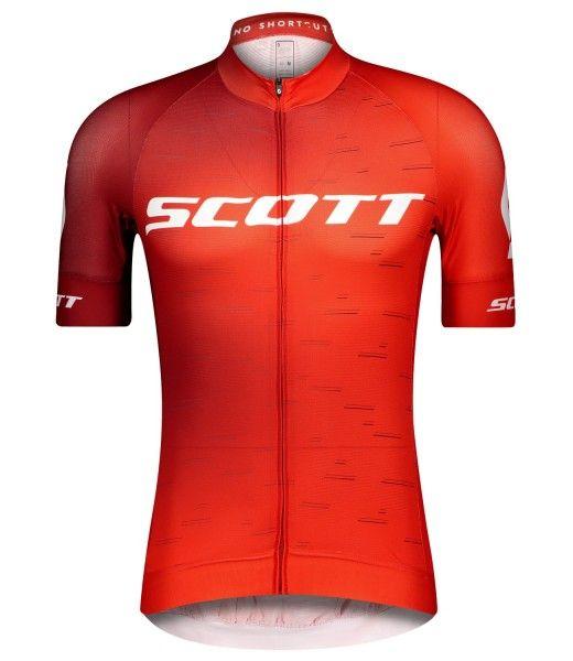 Scott RC PRO Radtrikot kurzarm rot/weiß 1