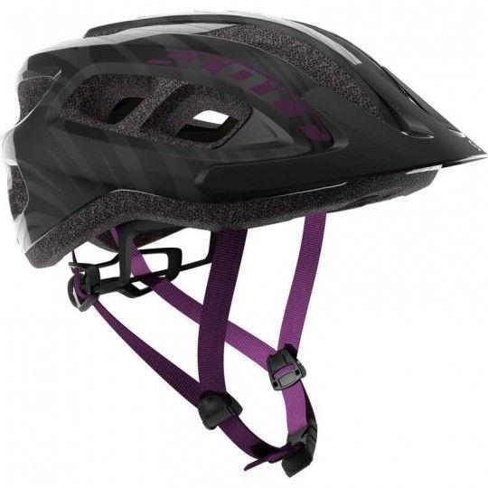 Scott SUPRA Fahrradhelm Damen schwarz lila 1